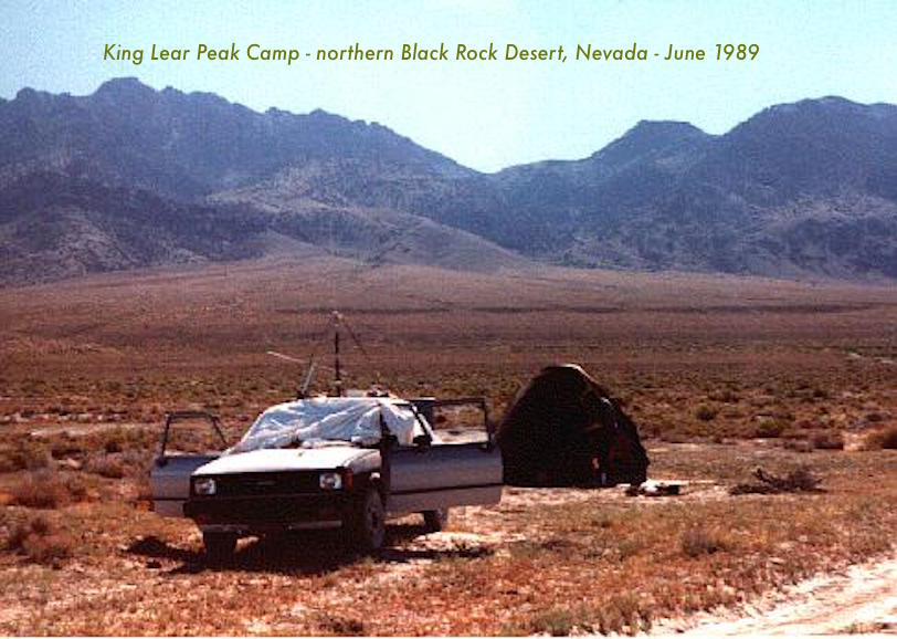Photo of June 1989 Black Rock Desert, Nevada June 1989 Campsite