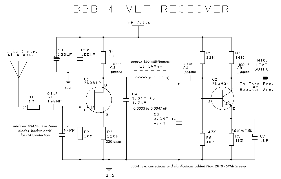 S  P  McGreevy BBB-4 Natural VLF Radio Receiver Plans